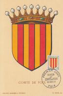 Carte  Maximum  1er  Jour   FRANCE   Blason  Du  Comté  De  FOIX   1955 - Maximum Cards