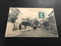 VILLIEU Grande Rue - 1906 Timbrée - Autres Communes