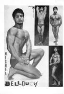 PHOTO HOMME EN MAILLOT DE BAIN CULTURISME CULTURISTE MICHEL BELLOUCY PHOTO DEMEILLES 29 X 20 CM - Sports