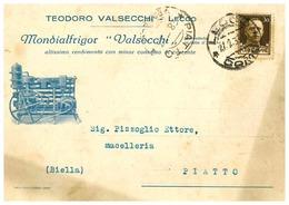 LECCO CARTOLINA COMMERCIALE DITTA VALSECCHI - Lecco