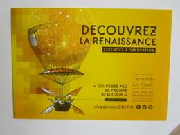 Viva Leonard Da Vinci 2019: 500 Ans De Renaissance(s) En Centre - Val De Loire France. Decouvrez.... - Personnages Historiques