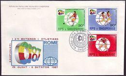 Albania - 1987 - Athletics World Champ 1987 - FDC - Athlétisme