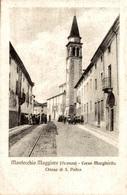 CPA Montecchio Maggiore (Vicenza) Corso Margherita Chiesa Di S. Pietro - Animée - Terni