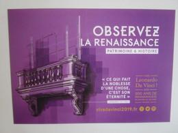 Viva Leonardo Da Vinci 2019: 500 Ans De Renaissance(s) En Centre - Val De Loire France. Observez... - Centre-Val De Loire