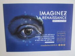 Viva Leonardo Da Vinci 2019: 500 Ans De Renaissance(s) En Centre - Val De Loire France. Imaginez... - Publicité