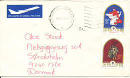 South Africa Cover Sent To Denmark Capetown 16-4-1988 - Covers & Documents