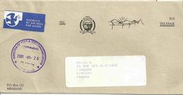Enveloppe De Service - Bouclier - Lettre De Mbabane Pour La France - Swaziland (1968-...)