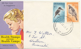 New Zealand FDC Health Stamps 10-8-1960 Complete Set Of 2 With Cachet - FDC