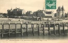14 Calvados : Courseulles  La Jetée De Bois Et Les Villas De La Plage   Réf 6019 - Courseulles-sur-Mer