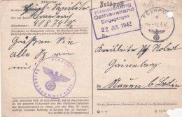 German Feldpost WW2: Organisation Todt OT-OBR Danzig  FP 41874 P/m 10.6.1942 - Plain Postcard With Archive - WW2