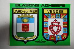85 : Blasons Adhésifs - Jard Sur Mer - Vendée - France