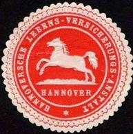 Hannover: Hannoversche Lebens - Versicherungs - Anstalt - Hannover Siegelmarke - Cinderellas