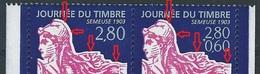 CC-/-453-.J T De 1996 - PAIRE N° P2991A, Dent 13 ½ X 13 , SUPERBE DECALLAGE DE L'IMPRESSION ROSE,  FOURNI AVEC LE NORMAL - France