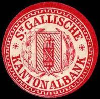 St. Gallische Kantonalbank Siegelmarke - Cinderellas