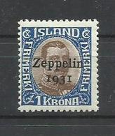ISLANDIA YVERT  AEREO 10    MH  * - Poste Aérienne