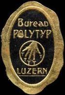 Luzern: Bureau Polytyp Reklamemarke - Vignetten (Erinnophilie)