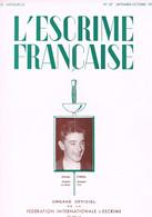 REVUE SPORTIVE - L'ESCRIME FRANCAISE - 1952 - - 1900 - 1949