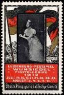 Wunsiedel / Fichtelgebirge: Luisenburg - Festspiel Reklamemarke - Cinderellas