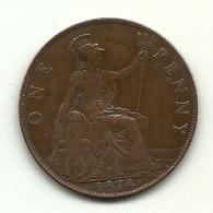 1914 - Gran Bretagna 1 Penny - 1902-1971 : Monete Post-Vittoriane