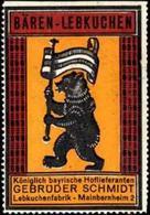 Mainbernheim: Bären - Lebkuchen Reklamemarke - Cinderellas
