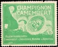 Heising Bei Kempten: Champignon Camembert Käse Reklamemarke - Vignetten (Erinnophilie)
