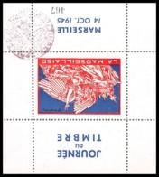 11248 Bloc Feuillet Souvenir Bouches Du Rhone Marseille Bloc Journée Du Timbre 1945 - Erinnophilie