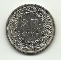 1969 - Svizzera 2 Francs - Svizzera
