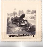 PHOTO - DYNA PANHARD X CABRIOLET - VOITURE De TOURISME Modèle Vers 1950 - 3 PHOTOS Différ Format 8cm Sur 8 Bel état - Cars