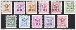 Belgium PRE769/79** 1966 -MNH- - Préoblitérés