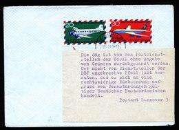A6004) Bund Postkrief Brief 19.02.69 Estland Mi.576-577 Hinweiszettel - BRD
