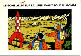 CP Dossier De Presse TINTIN HERGE Anniversaire 30 Ans Premiers Pas Sur La Lune 1999 - Books, Magazines, Comics