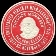Wien: Theodor Mommsen Reklamemarke - Cinderellas