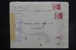ESPAGNE - Enveloppe Commerciale De Zaragoza Pour Paris En 1936 Avec Contrôle Postal - L 26549 - Republikanische Zensur