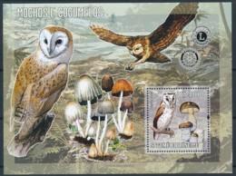 NB - [401597]Sao Tomé-et-Principe 2004 - Hiboux Et Champignons, Rotary International - Owls