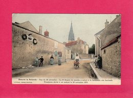 45 Loiret, Beaune La Rolande, Rue Du 28 Novembre, Le 3ème Zouave De Marche, Animée, Colorisée, 1905, (A. Breger) - Beaune-la-Rolande
