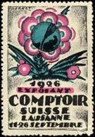 Lausanne: Comptoir Suisse Reklamemarke - Vignetten (Erinnophilie)