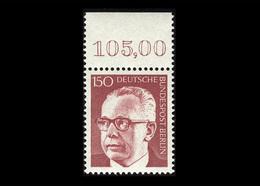 Berlin 1972, Michel-Nr. 431, Freimarken Bundespräsident Dr. Gustav Heinemann, 150 Pf., Bogenrand Oben, Postfrisch - Ungebraucht