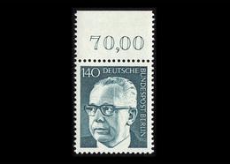 Berlin 1973, Michel-Nr. 430, Freimarken Bundespräsident Dr. Gustav Heinemann, 140 Pf., Bogenrand Oben, Postfrisch - Ungebraucht