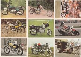 CHOCOLAT POULAIN - LOT DE 16 IMAGES SERIE 6 CONNAISSANCE DU CYCLE Et DE LA MOTO HONDA HARLEY DAVIDSON - Vieux Papiers