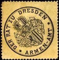 Dresden: Der Rat Zu Dresden - Armen - Amt Siegelmarke - Cinderellas