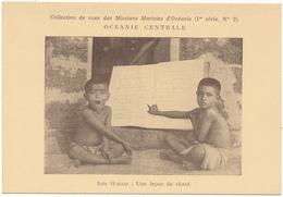 ILES WALLIS, Une Leçon De Chant - Missions Maristes D'Océanie - Wallis Et Futuna