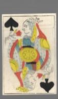 Ancien Jeu De Cartes à Jouer Ancien  DAME PIQUE    2 - Cartes à Jouer Classiques