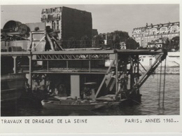 19 / 4 / 37  - PARIS  : ANNÉES  1960  - TRAVAUX  DE  DRAINAGE  DE  LA  SEINE  - C P M - La Seine Et Ses Bords