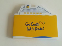 Cruise Coasta Italy At Sea Memo / Note Pad - Boats