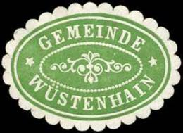 Wüstenhain: Gemeinde Wüstenhain (Borna) Siegelmarke - Cinderellas