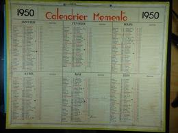 Calendrier Memento 1950 Sur Carton 2 Faces (Format : 42,5 Cm X 34,5 Cm) - Calendarios