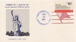 USA - STROUDSBURG PA - POMEX  '75 - AMERICAN FLAG - Buste