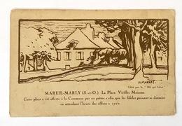 CPA (Yvelines 78) MAREIL-MARLY - La Place - Vieilles Maisons - Dessin De Henri Marret - Publicité Au Dos - France