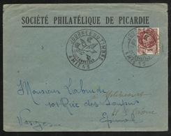 Lettre Société Philatélique De Picardie Amiens 10/10/1943 N° 517  Cachet Illustré Journée Du Timbre B/TB Soldé ! ! ! - ....-1949
