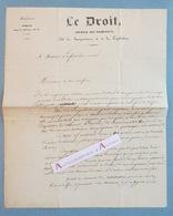 L.A.S 1836 Alexandre LEDRU ROLLIN Avocat Juriste Politique - Journal LE DROIT - à Laferrière - Lettre Autographe LAS - Autographes